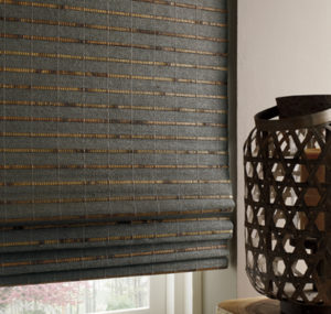 Motorized Woven Wood Shades